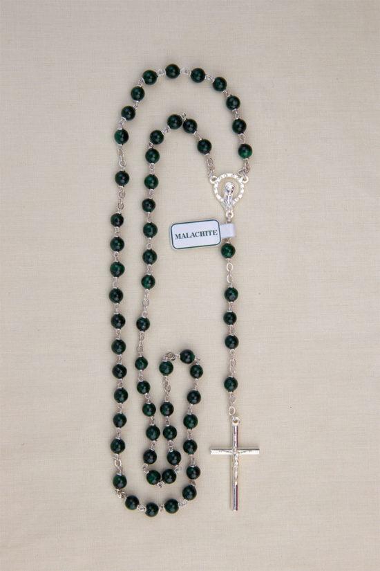vendita rosari malachite roma