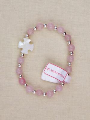 vendita bracciale rosario quarzo rosa