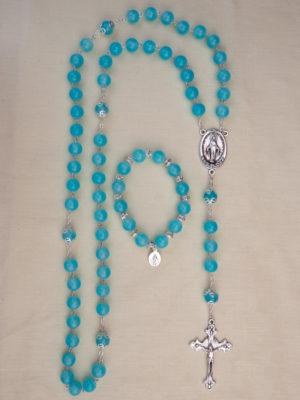 vendita rosari e bracciali abbinati in vetro