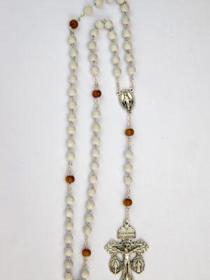 rosario legno bianco