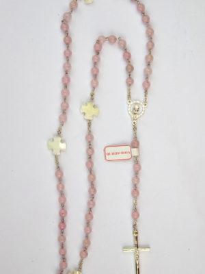 vendita rosa rosari quarzo rosa