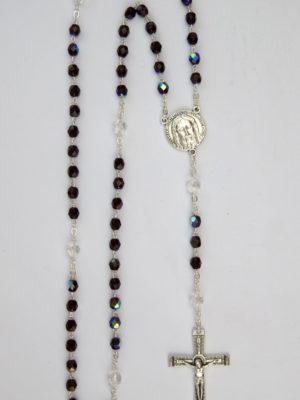 rosario semicristallo granata vendita