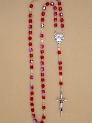 rosario-semicristallo rosso