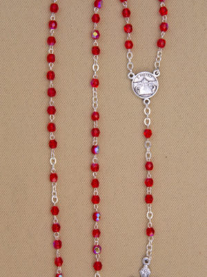 rosario semicristallo rosso