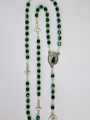 rosario semicristallo verde san giuda vendita