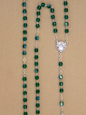 rosario semicristallo verde