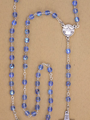 vendita rosari zaffiro 5mm