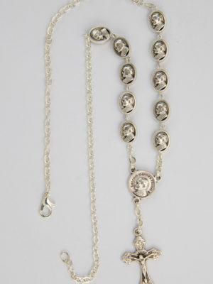 rosario collana con grani ovali GPII / Gesù